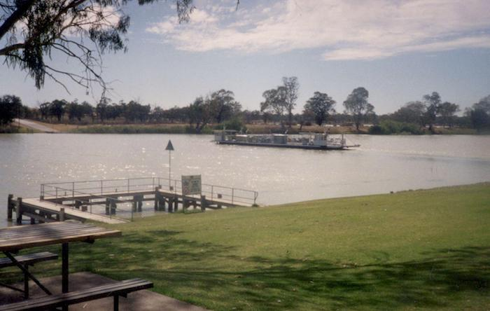 The Waikerie ferry.