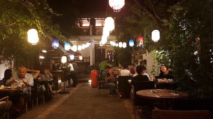 Dining out in Luang Prabang.