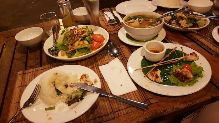 At restaurant in Luang Prabang.