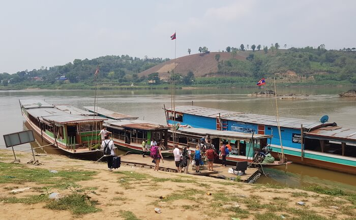 The boarding point at Chiang Khong.