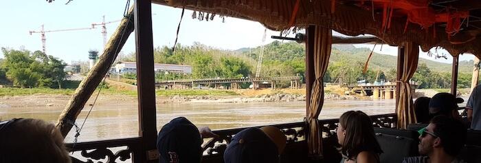 Bridge under construction at Luang Prabang.