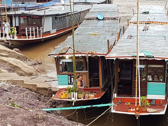 Houseboats at Pak Beng.
