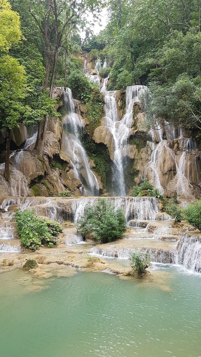Beautiful Kuang Si Waterfall.