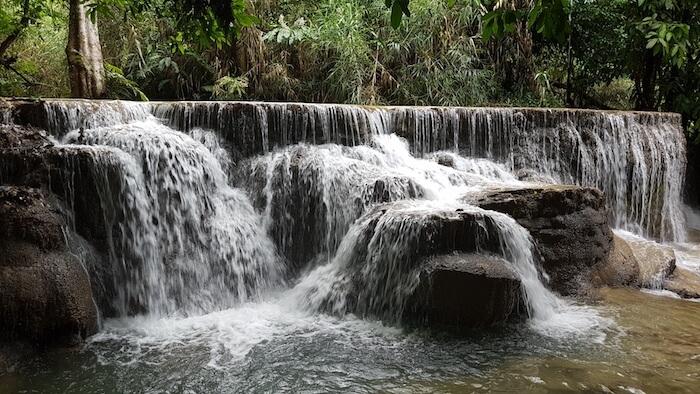 The drop below the main waterfall.