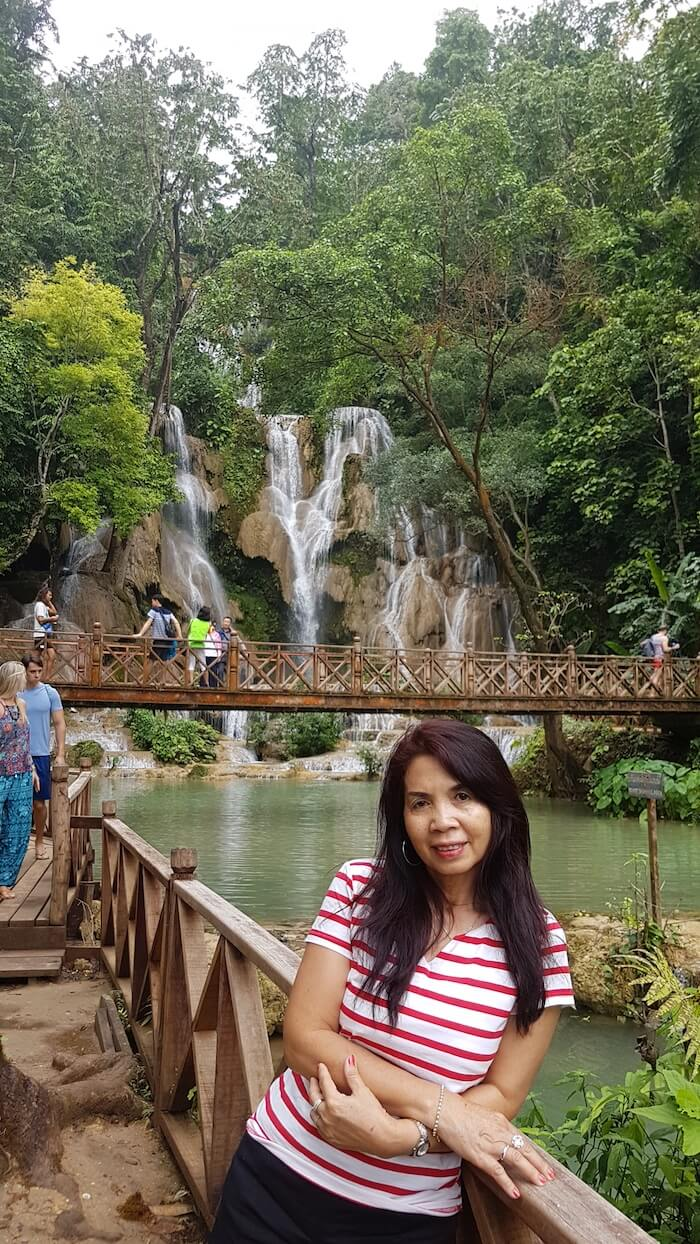 The Kuang Si Waterfall is one of the main attractions of Luang Prabang.