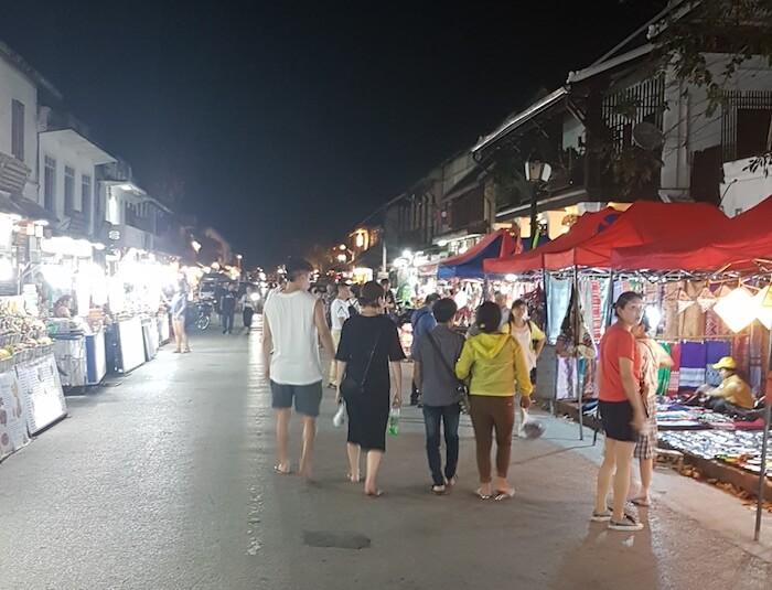 Walking street in Luang Prabang.