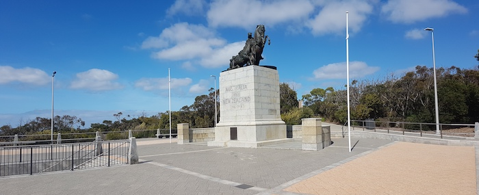 Memorial to ANZAC Desert Mounted Corp at Mt Clarence.
