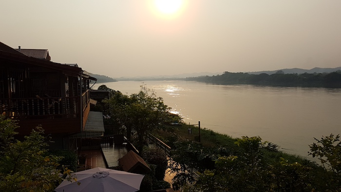 Sunset over the Mekong River at Chiang Khan.