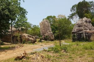 Interesting shaped rocks at Nam Phong National Park.