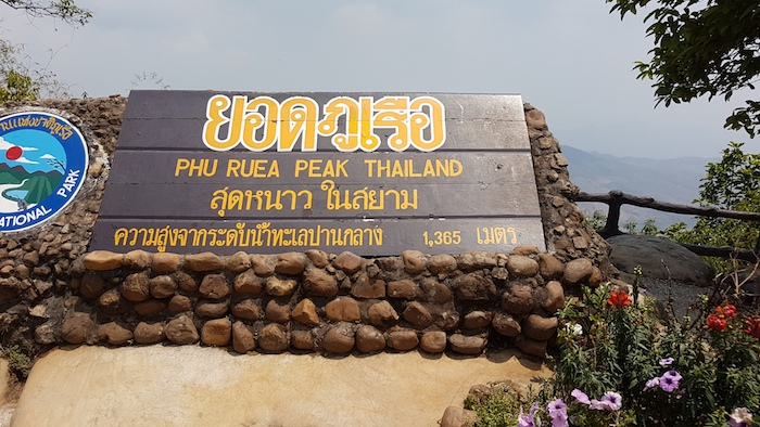 The peak of Phu Ruea.