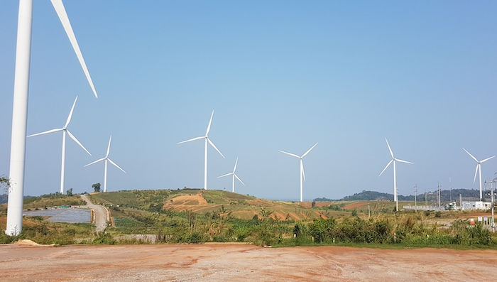 Windfarm at Thung Samo near Khao Kho.