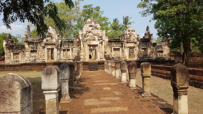Sadok Kok Thom is an ancient Kmer temple.