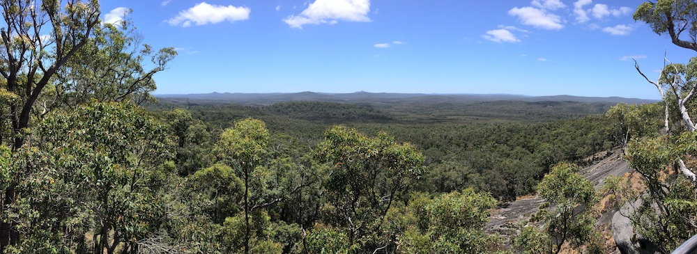 Atop Mount Frankland looking north.