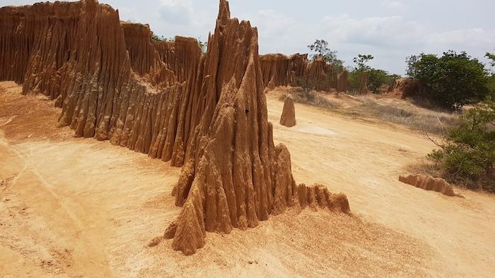 Sand pinnacle at Lalu.