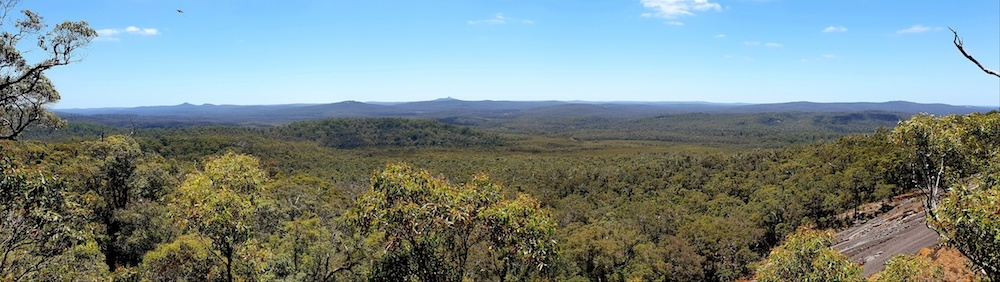 Looking south from Mount Frankland.