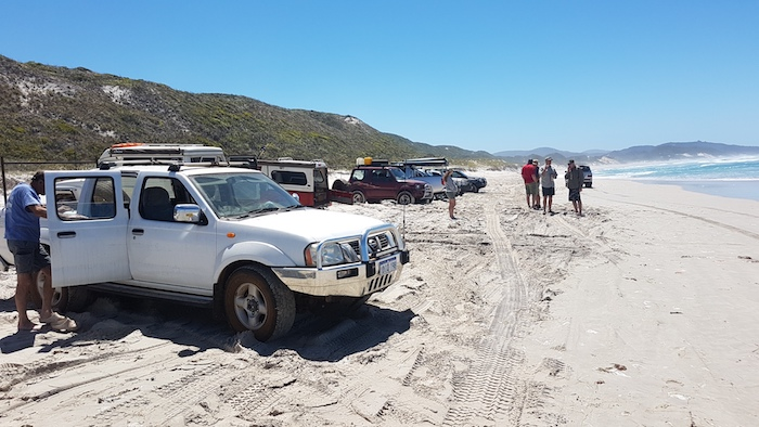 We couldn't drive any further along the beach.