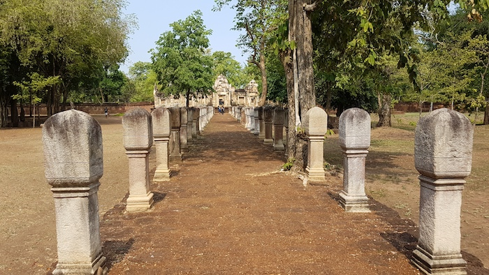 The processional pathway to the temple.