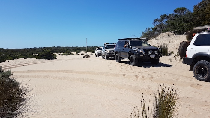 At the start of the Quarrum Dunes.