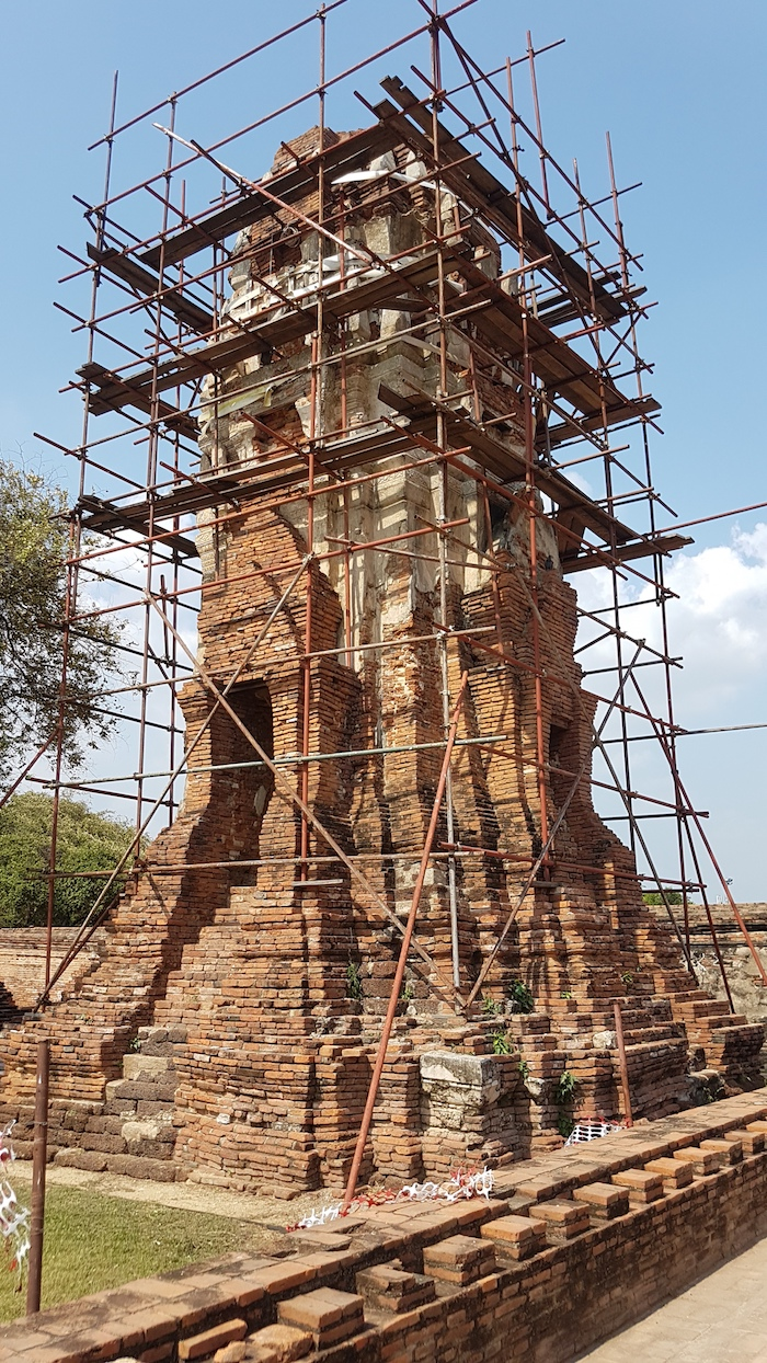 The only part of the temple being actively worked on.