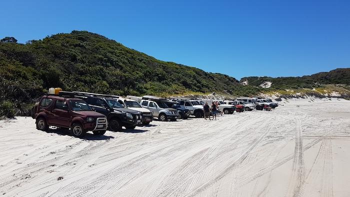 At Middle Quarrum Beach.