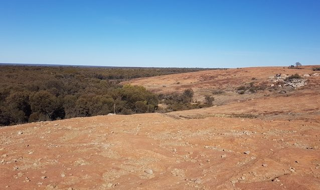 On top of the Boorabbin quarry.
