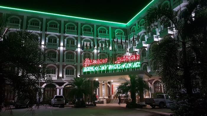 The biggest hotel in Vang Vieng.