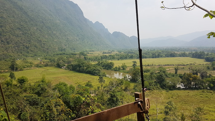 View from zipline tower.