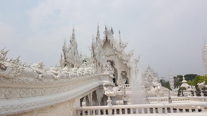 Wat Rong Khun (White Temple) at Chiang Rai.