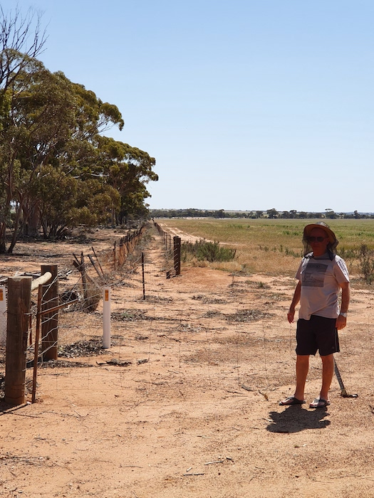 Jeff at the No.1 Rabbit Proof Fence.