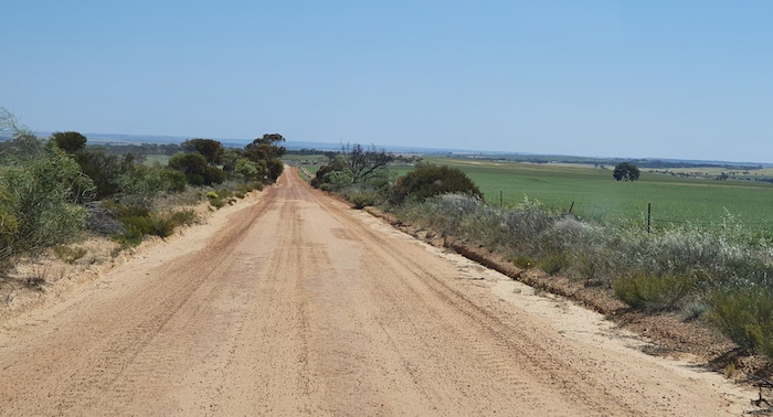 One of the many backroads we followed through the Wheatbelt on our journey from Merredin to Toodyay.
