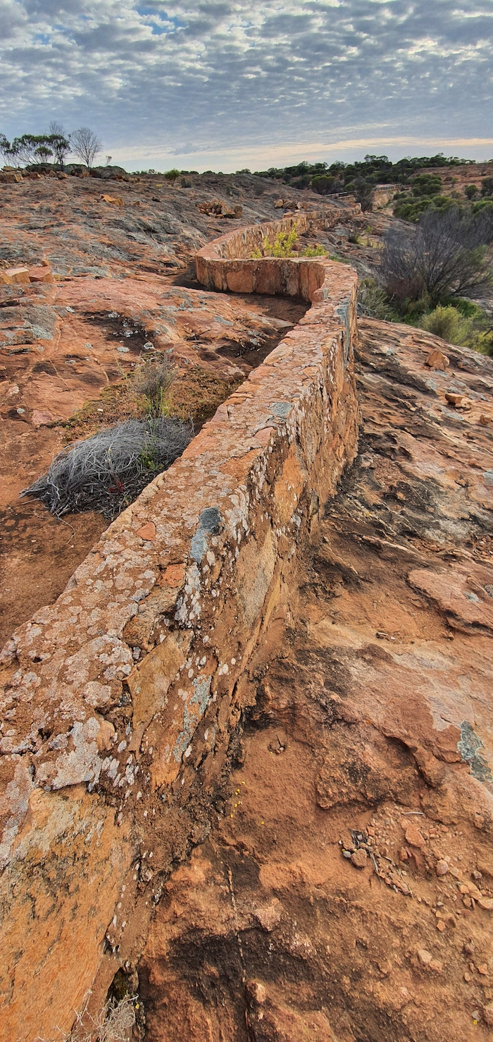 A fine example of a harvest wall. This is at Cardunia Rocks.