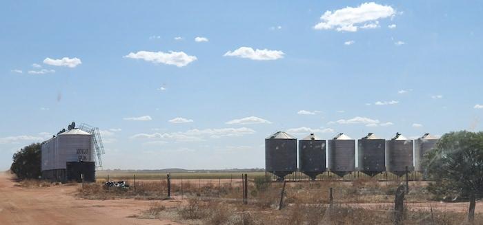 On farm grain silos.
