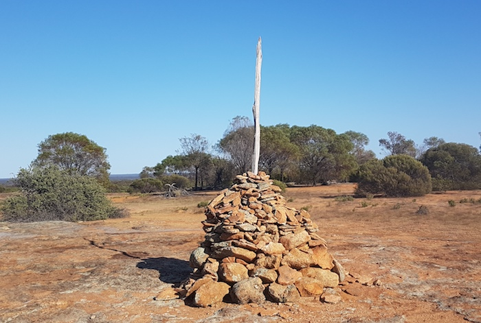 The cairn at the top of Weowanie Rock.