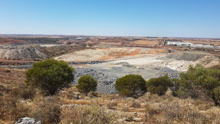 This open-cut talc mine is located 12 kilometres north-east of Three Springs. It is the second largest talc mine in the world with annual production exceeding 240,000 tonnes.