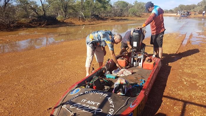 Greg, Cliff and Matt preparing the boat for the start.