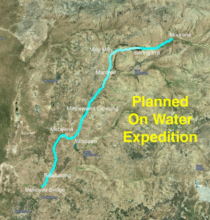 Planned on water expedition.