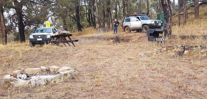 Our camp on the bank of the Blackwood River.