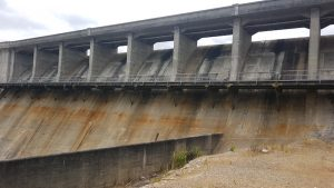 Overflow at Canning Dam.