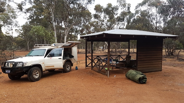 Our camp at Dryandra.