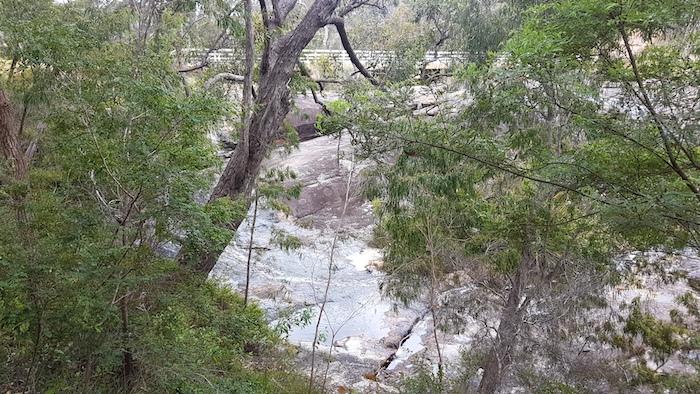 Fernhook Falls from the access walk way.