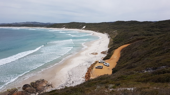 Port Hughes Beach from the Mutton Bird Road Lookout.