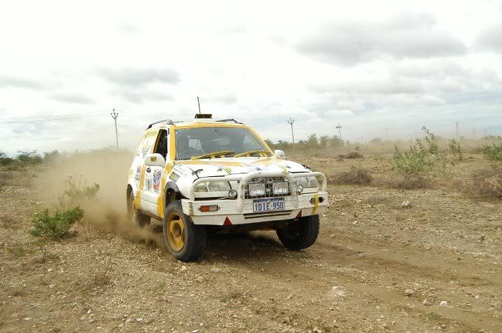 Racing at windfarm