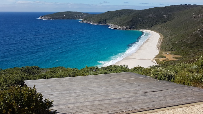 Hang glider launch point at Shelley Beach.