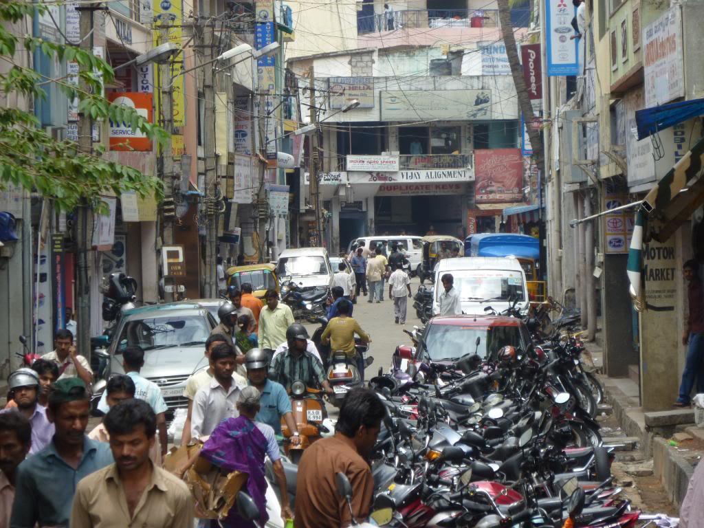 The motorparts precinct in Bangalore.