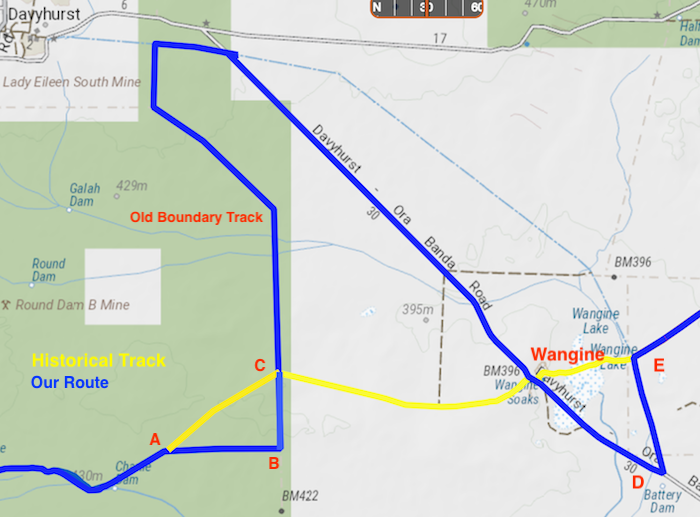 DETOUR FROM BOUNDARY TRACK TO PIPELINE TRACK