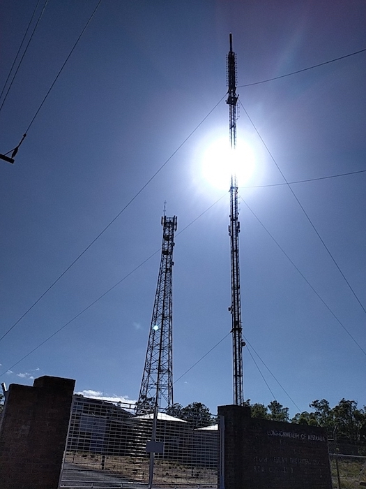 Television mast at Pile/River Road.