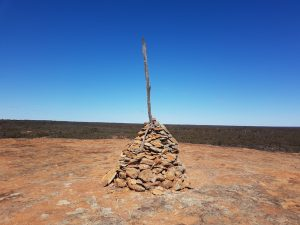 Cairn at the top of Weowanie Rock.