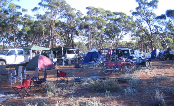 Our camp setup in the bush just north of Lake Johnston.