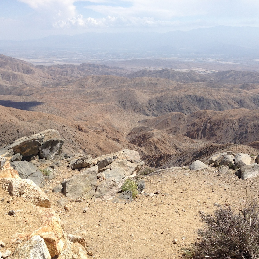 Coachella Valley in the distance.