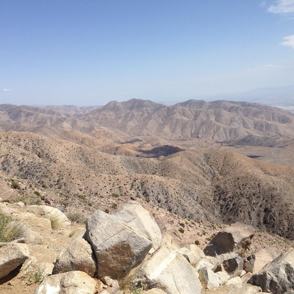 The Santa Rosa Mountains.
